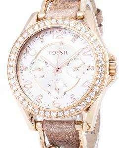 化石のライリー多機能結晶 ES3466 レディース腕時計