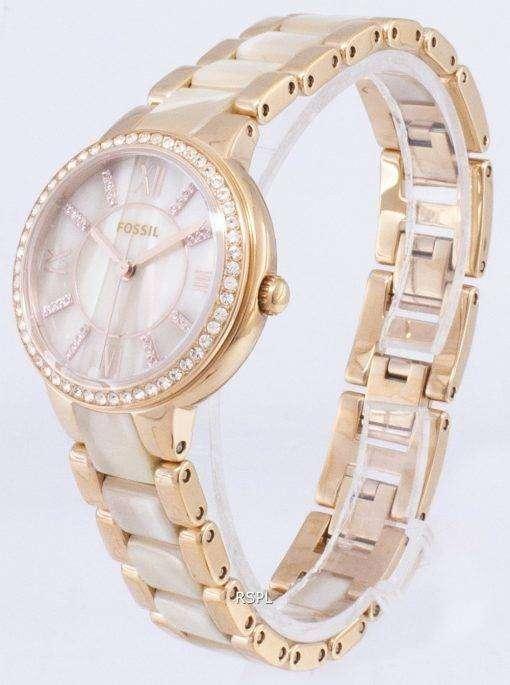 化石バージニア結晶角酢酸石英 ES3716 レディース腕時計