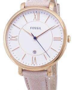 化石ジャクリーン石英赤面革ストラップ ES3988 レディース腕時計