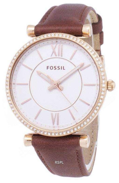 化石 Carlie ES4428 ダイヤモンド水晶アナログ女性の腕時計