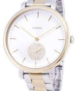 化石ジャクリーヌ ・ ES4439 ダイヤモンド水晶アナログ レディース腕時計