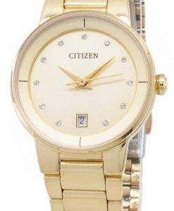 市民自動 EU6012-58 P ダイヤモンド レディース アナログ腕時計をアクセントします。