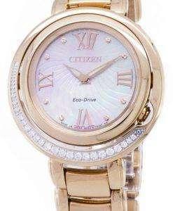 市民エコ ・ ドライブ EX1122-58 D ダイヤモンド レディース腕時計