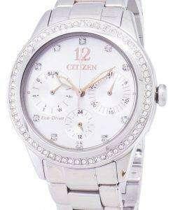 市民エコドライブ FD2010 58 a ダイヤモンド アクセント アナログ レディース腕時計