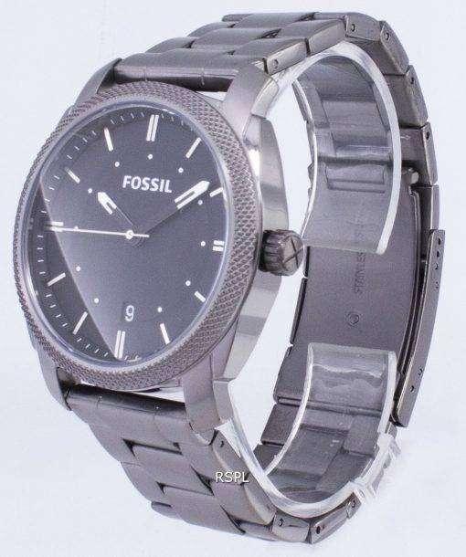 化石マシン ブラック ダイヤル煙 IP ステンレス鋼 FS4774 メンズ腕時計
