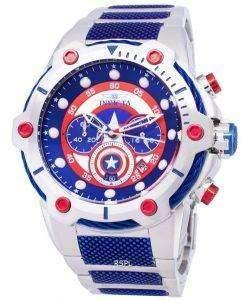 インビクタ マーベル 25780 キャプテン アメリカ限定版クロノグラフ クォーツ メンズ腕時計