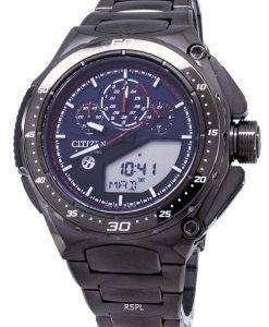 市民エコドライブ JW0104 51E 限定版チタン アナログ デジタル 200 M メンズ腕時計