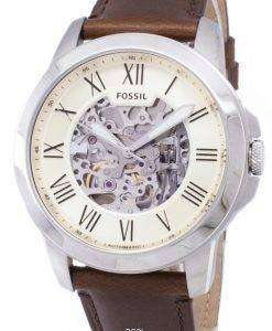 化石を与える自動ベージュ スケルトン ダイヤル ME3099 メンズ腕時計