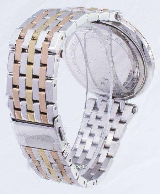 Michael Kors シルバー ダイヤル トライトーン結晶 MK3203 レディース腕時計