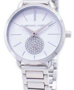 ミハエル Kors 小柄なポーシャ水晶ダイヤモンド アクセント MK3837 レディース腕時計