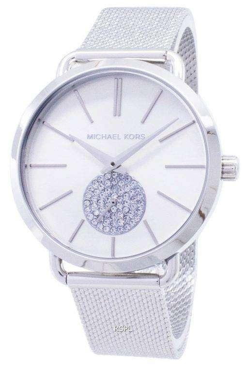 ミハエル Kors ポーシャ水晶ダイヤモンド アクセント MK3843 レディース腕時計