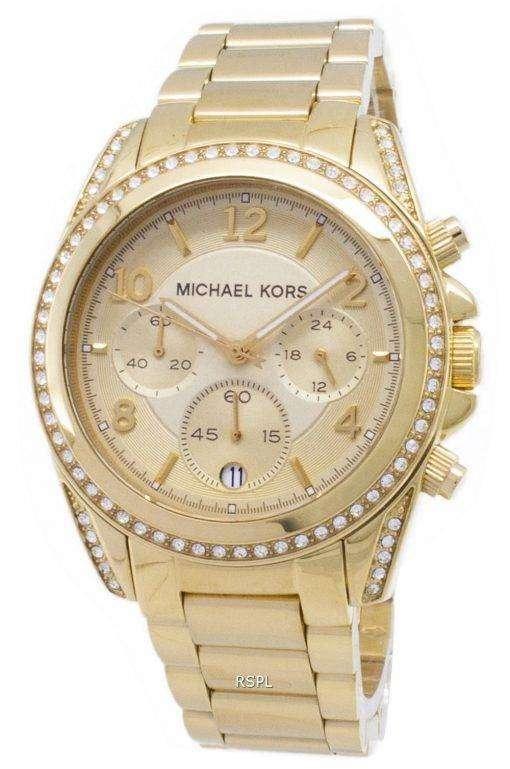 Michael Kors 黄金の滑走路の華やかさクロノグラフ MK5166 レディース腕時計