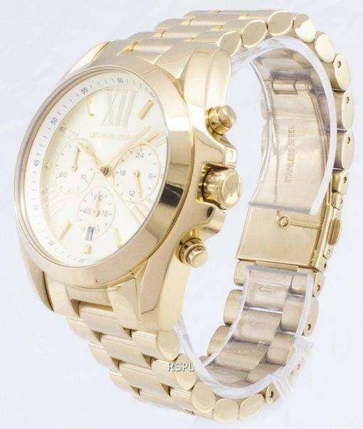 Michael Kors Bradshaw クロノグラフ ゴールド トーン MK5605 ユニセックス腕時計