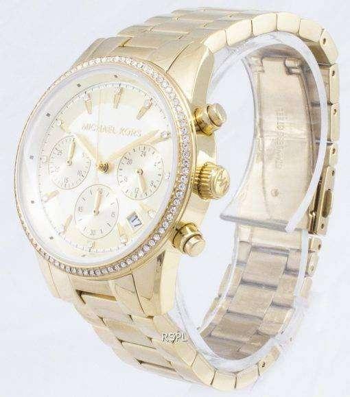 ミハエル Kors リッツ クロノグラフ クォーツ ダイヤモンド アクセント MK6356 レディース腕時計