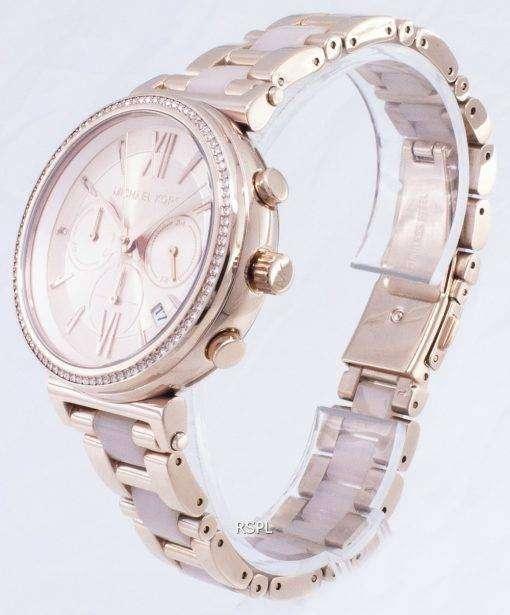 マイケル Kors ソフィー クロノグラフ クォーツ ダイヤモンド アクセント MK6560 レディース腕時計