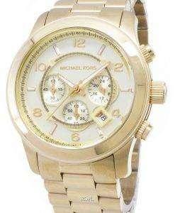 Michael Kors ゴールド トーン滑走路 MK8077 ユニセックス腕時計