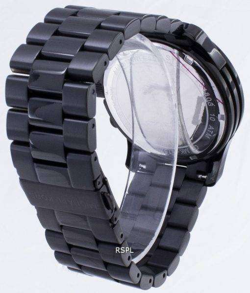 Michael Kors 黒く塗りつぶされた滑走路クロノグラフ MK8157 メンズ腕時計