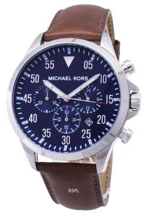 Michael Kors ゲージ クロノグラフ ブルー ダイヤル MK8362 メンズ腕時計