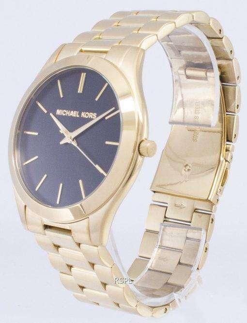 ミハエル Kors MK8621 スリムな滑走路クォーツ メンズ腕時計