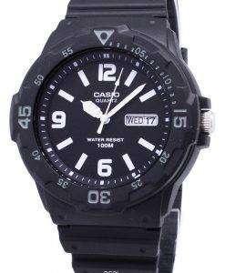 カシオ石英アナログ 100 M ブラック樹脂ストラップ MRW 200 H 1B2VDF MRW 200 H 1B2V メンズ腕時計