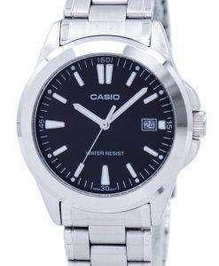 カシオ石英アナログ ブラック ダイアル ステンレス MTP 1215A 1A2DF MTP 1215A-1 a 2 メンズ腕時計