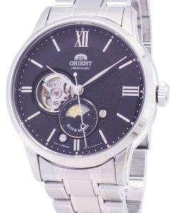 太陽の方向を設定し、月の RA AS0002B10B オープン ハート自動メンズ腕時計腕時計