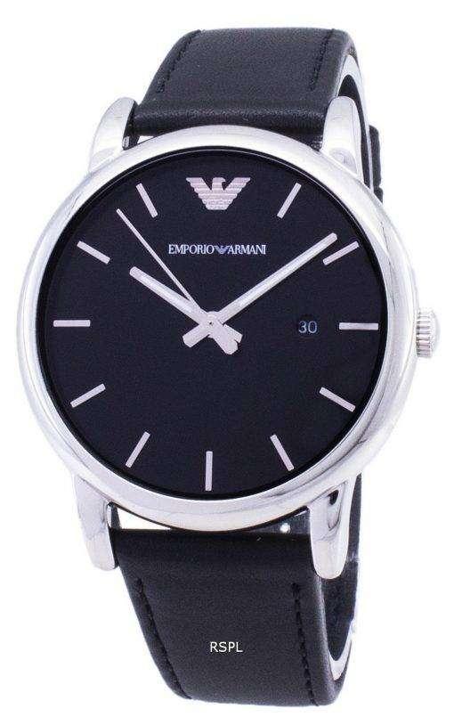 エンポリオアルマーニ クラシック ブラック ダイアル ブラック レザー AR1692 メンズ腕時計