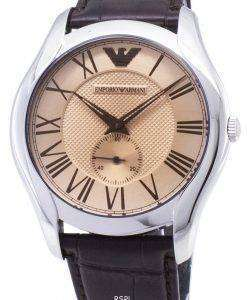 エンポリオアルマーニ クラシック オレンジ ダイアル ブラウン レザー AR1704 メンズ腕時計
