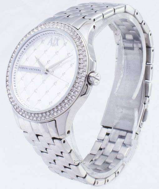 銀結晶キルト アルマーニエクス チェンジ女性ハンプトン ダイヤル AX5215 レディース腕時計