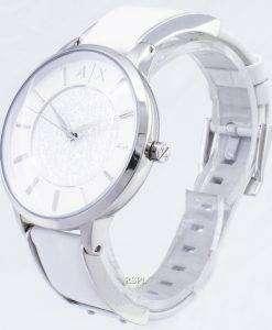 アルマーニエクス チェンジ ホワイト ダイヤル白革 AX5300 レディース時計します。