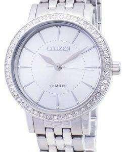 市民石英 EL3040 80A アナログ ダイヤモンド アクセント レディース腕時計
