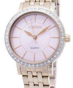 市民石英 EL3043 81 X アナログ ダイヤモンド アクセント レディース腕時計