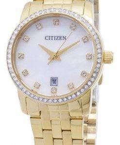 市民石英 EU6032-51 D アナログ ダイヤモンド アクセント レディース腕時計