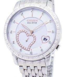 市民エコドライブ EV1000 58A ダイヤモンド アクセント アナログ レディース腕時計