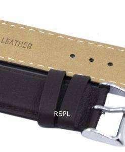 暗い茶色比ブランド革ストラップ SKX007、SKX009、skx011 腕時計、SNZG07、SNZG015 の 22 mm