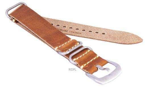 茶色比ブランド革ストラップ 22 mm
