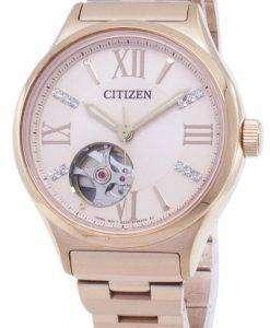市民自動 PC1003 58 X ダイヤモンド アクセント アナログ レディース腕時計