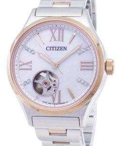 市民自動 PC1009-51 D ダイヤモンド アクセント アナログ レディース腕時計