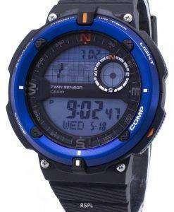 カシオ屋外 SGW-600 H-2 a SGW600H-2 a ツイン センサー水晶デジタル男性用の腕時計