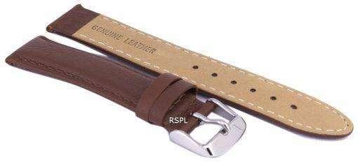 茶色比ブランド革ストラップ 18 mm