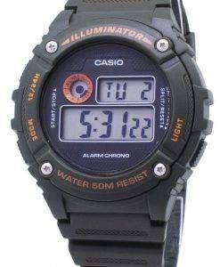 カシオ青年 W 216 H 3BV W216H 3BV 照明器具石英ユニセックス腕時計