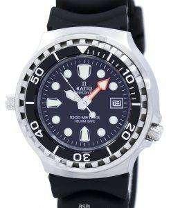 比 II 無料ダイバー ヘリウム セーフ 1000 M クォーツ 1038EF102V メンズ腕時計