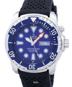 比 II 無料ダイバー ヘリウム セーフ 1000 M 自動 1068HA90-34VA-01 男性用の腕時計