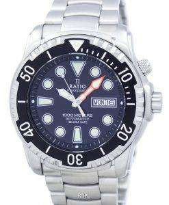 比 II 無料ダイバー ヘリウム セーフ 1000 M 自動 1068HA96-34VA-00 男性用の腕時計