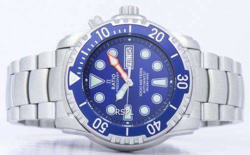 比 II 無料ダイバー ヘリウム セーフ 1000 M 自動 1068HA96-34VA-01 男性用の腕時計