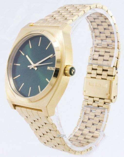 ニクソン タイム テラー ゴールド トーン緑サンレイ A045-1919年-00 メンズ腕時計