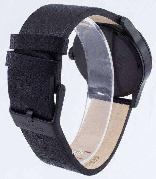 ニクソン石英歩哨黒革 A105-001-00 メンズ腕時計