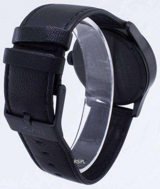 ニクソン石英歩哨黒革 A105-005-00 メンズ腕時計