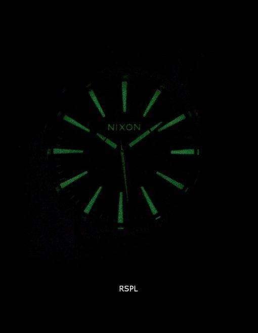 ニクソン石英歩哨ブラウン レザー A105-1037年-00 メンズ腕時計