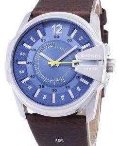 ディーゼル メガ チーフ クオーツ ブルー ダイヤル ブラウンレザース DZ1399 メンズ腕時計